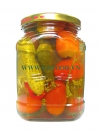 Assorti gherkins & cherry tomatoes 500ml