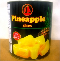 Canned pineapple slices in light syrup 3100ml